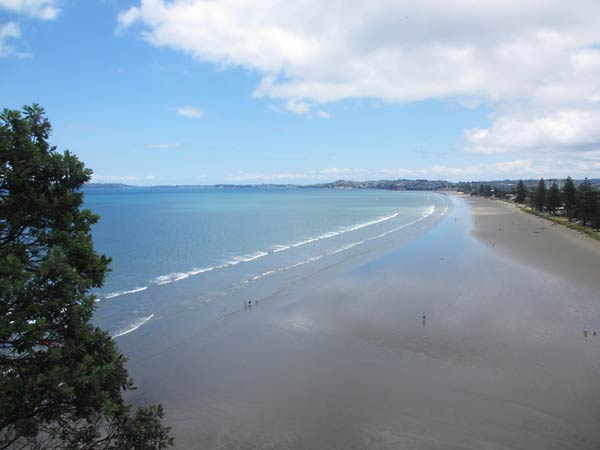 A view of the beach along the Hibiscus Coast.  (Orewa, New Zealand)