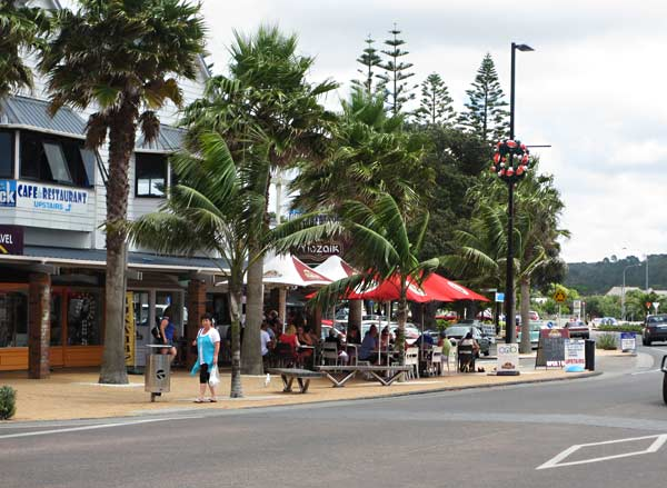 The beach town of Orewa.  (Hibiscus Coast, New Zealand)