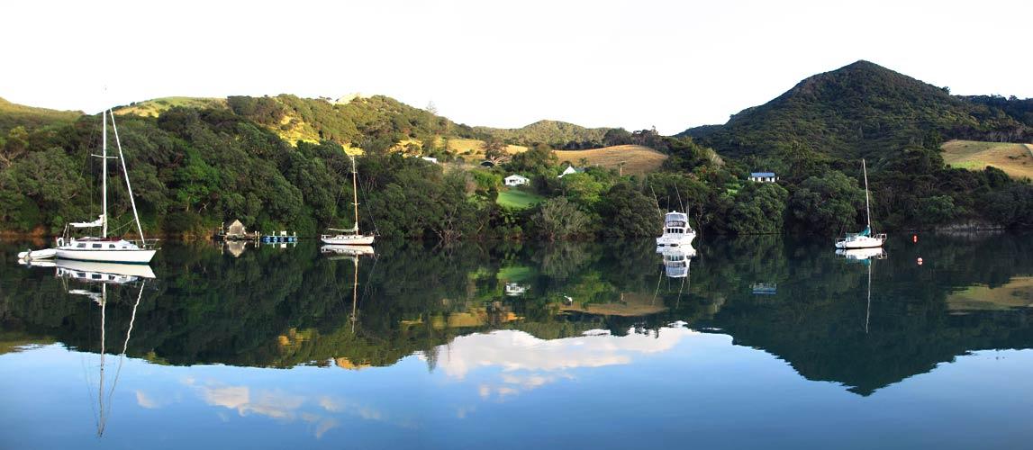 Great Barrier Island New Zealand  city photos gallery : Great Barrier Island, Rarohaha Bay Morning Port Fitzroy, New Zealand ...