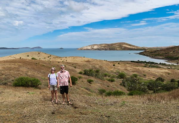 Cyndi and Rich on Ducos Island, New Caledonia.